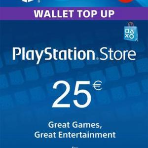 PS4: Playstation Network Card (PSN) 25€ (Austrian) (latauskoodi)