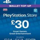 PS4: PlayStation Network Card (PSN) 30£: (UK) (latauskoodi)