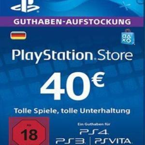 PS4: Playstation Network Card (PSN) 40 EUR (Saksa) (latauskoodi)