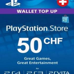 PS4: Playstation Network Card (PSN) 50 CHF (Switzerland) (latauskoodi)