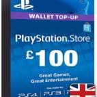 PS4: PlayStation Network Card (PSN) £:100 (UK) (latauskoodi)