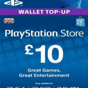 PlayStation Network Card (PSN) £10 (UK) (latauskoodi)