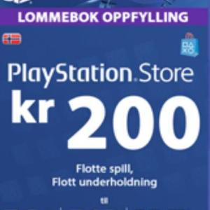 PS4: Playstation Network Card (PSN) 200 NOK (Norway) (latauskoodi)