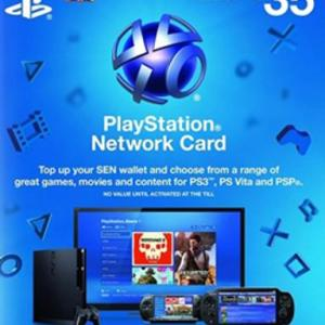PS4: PlayStation Network Card (PSN) 35£ (UK) (latauskoodi)
