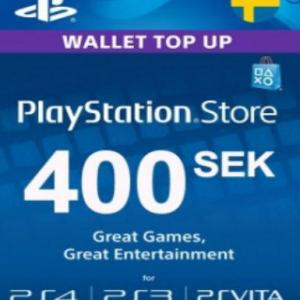 PS4: Playstation Network Card (PSN) 400 SEK (Sweden) (latauskoodi)