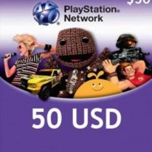 PS4: Playstation Network Card (PSN) 50 $ (USA) (latauskoodi)