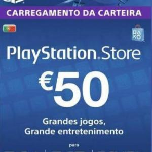 PS4: Playstation Network Card (PSN) 50 EUR (Portugal) (latauskoodi)
