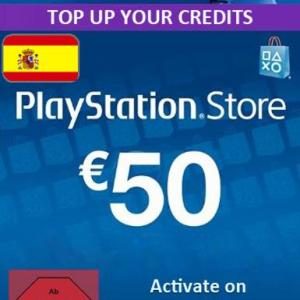 PS4: Playstation Network Card (PSN) 50 EUR (Spain) (latauskoodi)