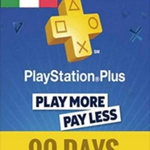 PS4: PlayStation Network Card (PSN) 90 Days (Italia) (latauskoodi)
