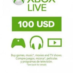 Xbox One: Xbox Live 100 USD (latauskoodi)