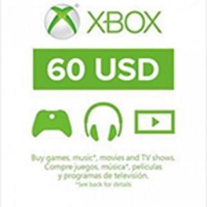 Xbox One: Xbox Live 60 USD (latauskoodi)