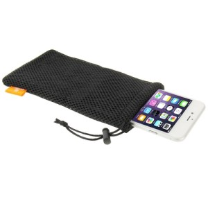 HAWEEL Pouch Bag for Smart Phones, Power Bank and other Accessories, Size same as 5.5 inch Phone(Black)