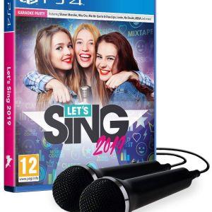 PS4: Lets Sing 2019 (Sisältää 2 mikrofonia)