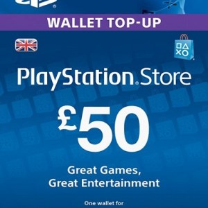 PlayStation Network Card (PSN) £:50 (UK) (latauskoodi)