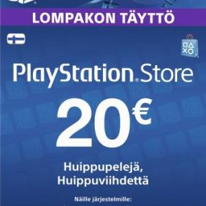 PS4: Playstation Network Card (PSN) 20 EUR (Suomi)