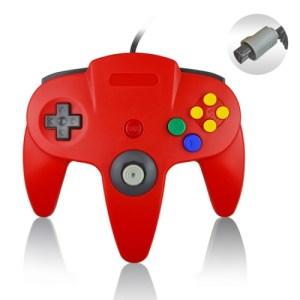 Retro: Nintendo 64 Ohjain, Punainen (ei original)