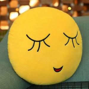Shy Face Creative Emoji Throw Pillow Back Pillow