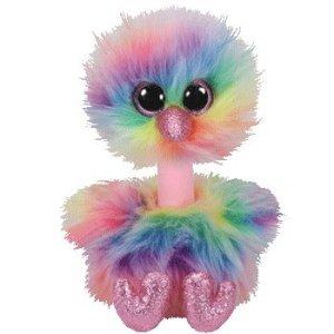 TY Beanie Boos ASHA - rainbow ostrich med