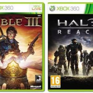 Xbox 360: Halo : Reach + Fable 3 (käytetty)