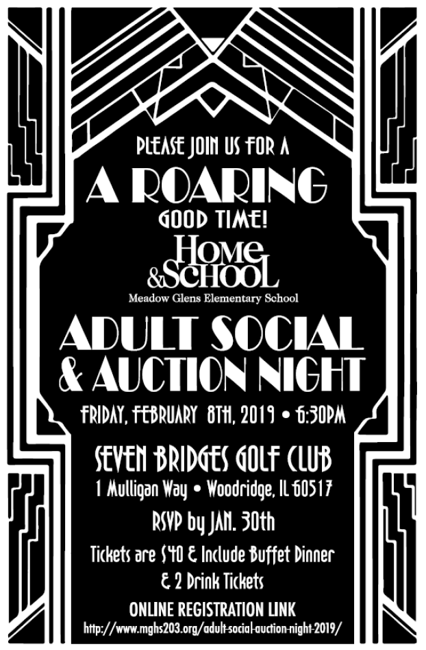 Adult Social and Auction Night 2019
