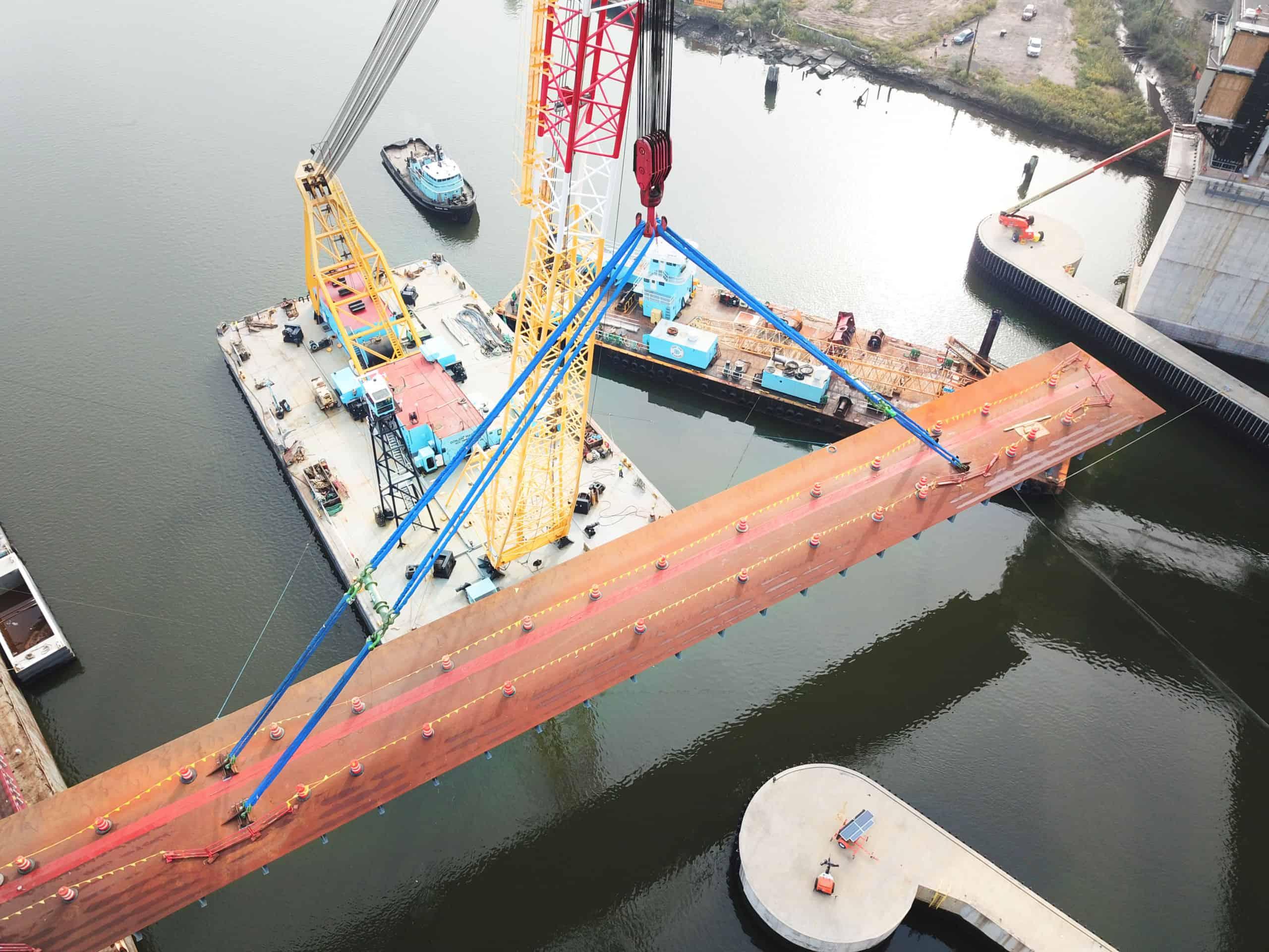 Vertical Lift Bridge - Constructing Wittpenn Bridge