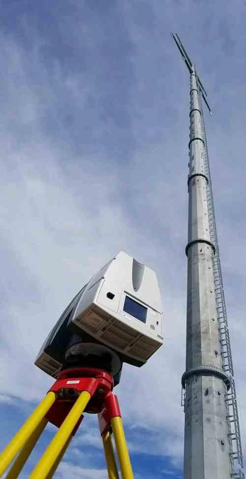 Monopole Tower Plumbness Survey