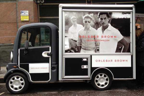 Orlebar Brown coffee van promotion