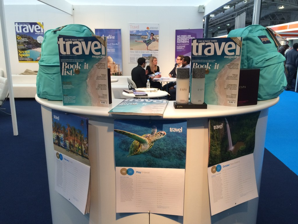The Times Destinations Travel Show Olympia ,Jan 2015