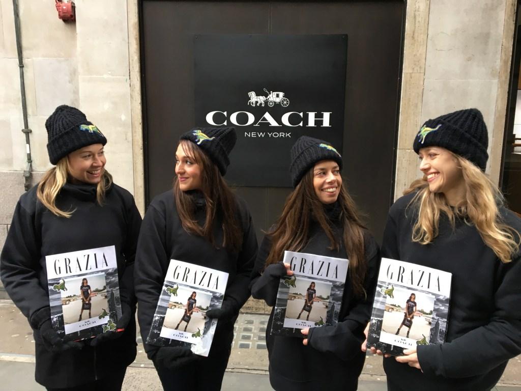 Grazia @ Regent Street Coach store London