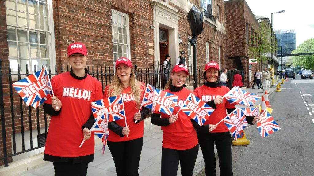 Hello Flags-St Mary's Paddington-Royal Birth