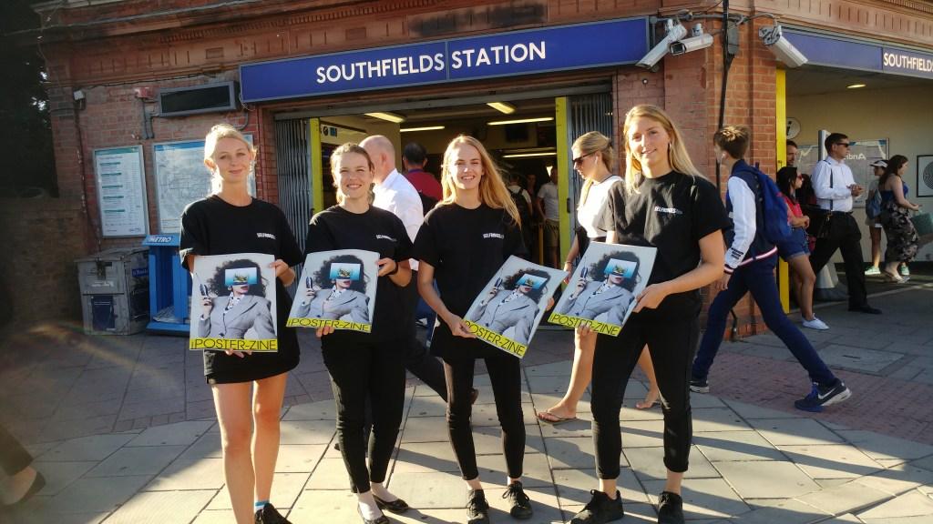 Selfridges Poster-Zine @ Southfields Station