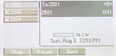 Figure 6: Call recording feature activated