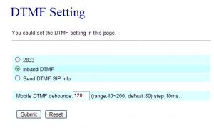 Figure 5: DTMF debounce