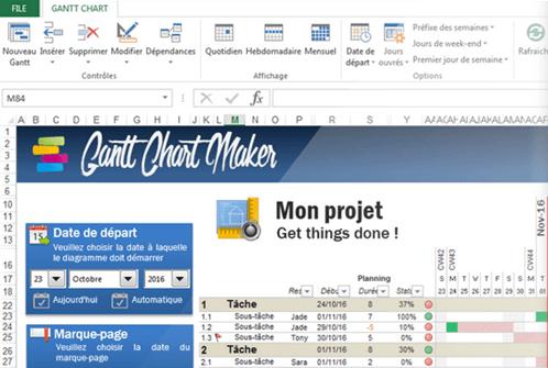 Excel Gantt Chart Maker Management Tools