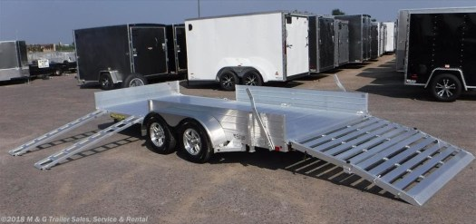 side loading aluminum ATV Trailer