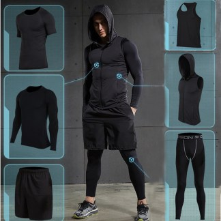 2017-Quick-Dry-Men-s-Running-Sets-6pieces-sets-Compression-Sports-Suits-Basketball-Tights-Clothes-Gym-0