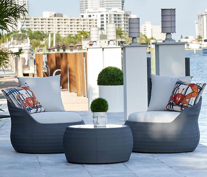 harpery modern outdoor bistro set grey