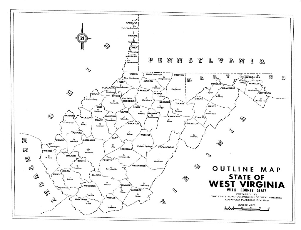 West Virginia Ohio River Map