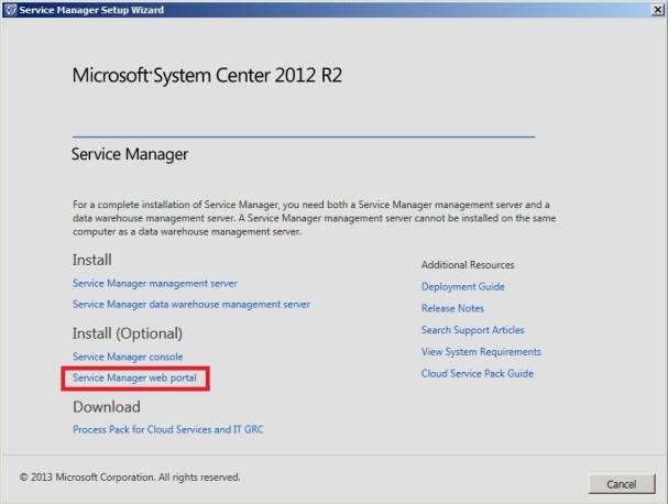 Service Manager Self-Service Portal Kurulum_17