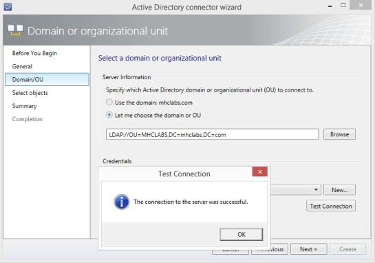 Service Manager Active Direcotry Connector Oluşturma_5