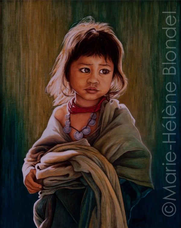 Petite villageoise – 1992 – Huile sur carton entoilé – 41 X 35 – non dispo