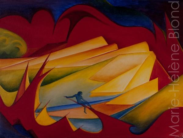 Solitude 1 – 1996 – Huile sur carton entoilé – 45 X 60 – non dispo