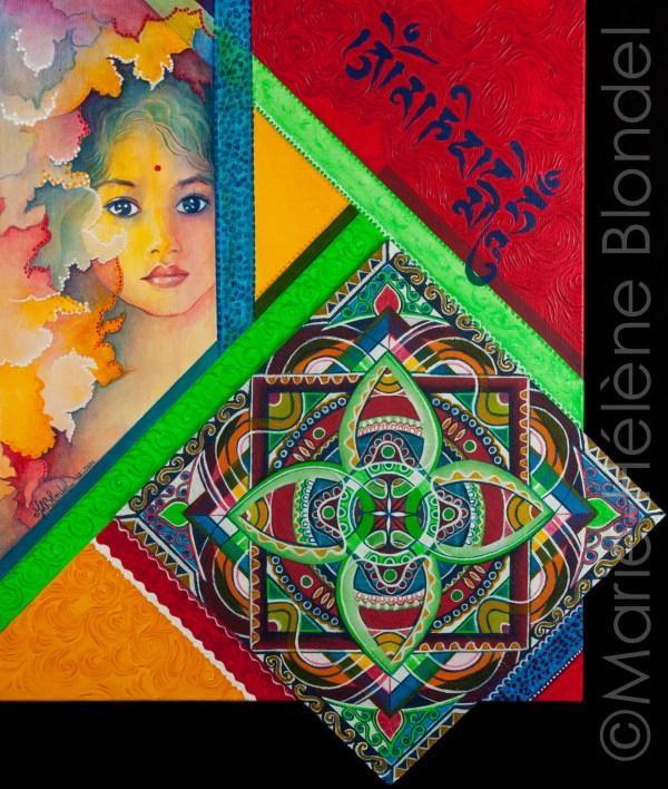 Mandal'harmonie – 2006 – Acrylique sur toile – 61 X 52 – 320€