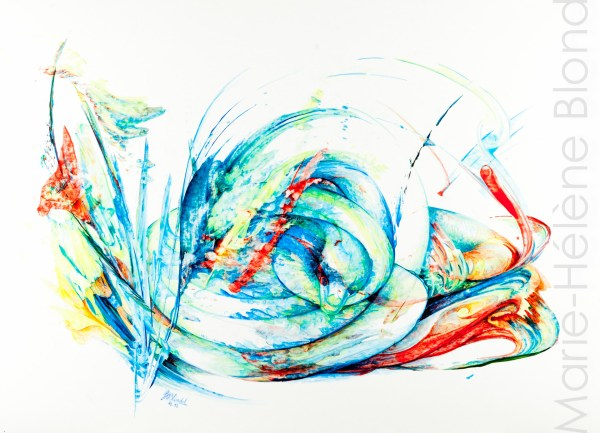 Serpentaire – 2012 – Acrylique sur carton – 50 X 68