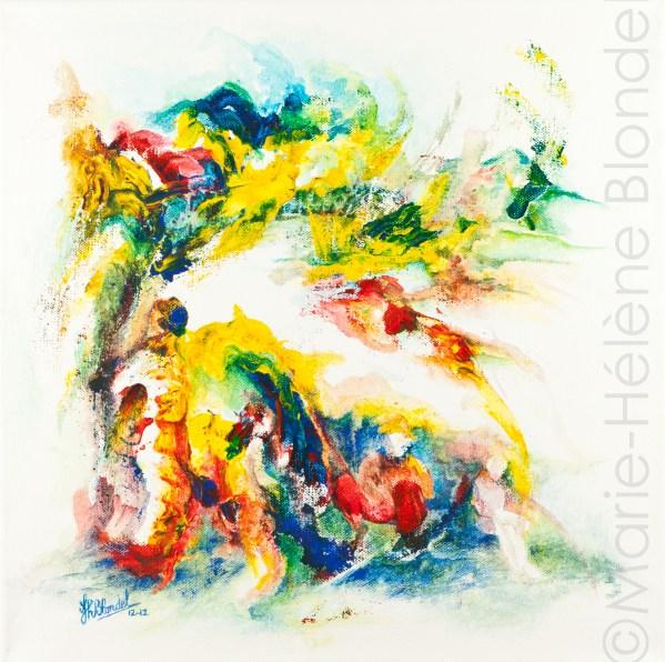 Scène champêtre – 2012 – Acrylique sur toile – 40 X 40 – 160€