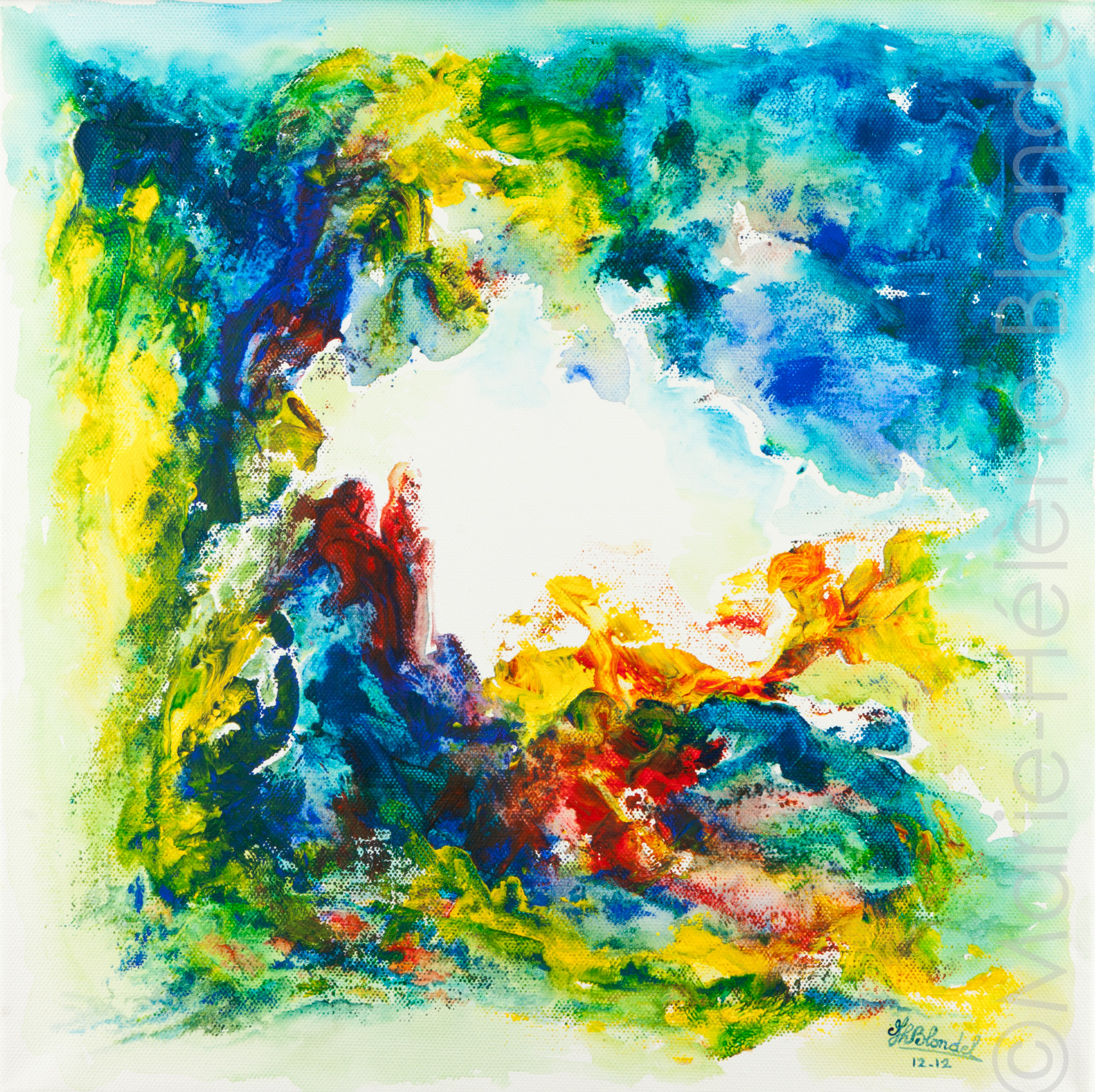La sentinelle – 2012 – Acrylique sur toile – 40 X 40 – 160€