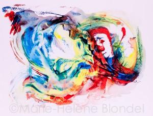 Acrylique sur papier - 41 X 32