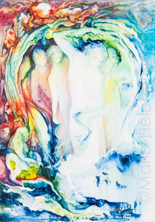 Aurore – Aquarelle sur papier – 42 X 29