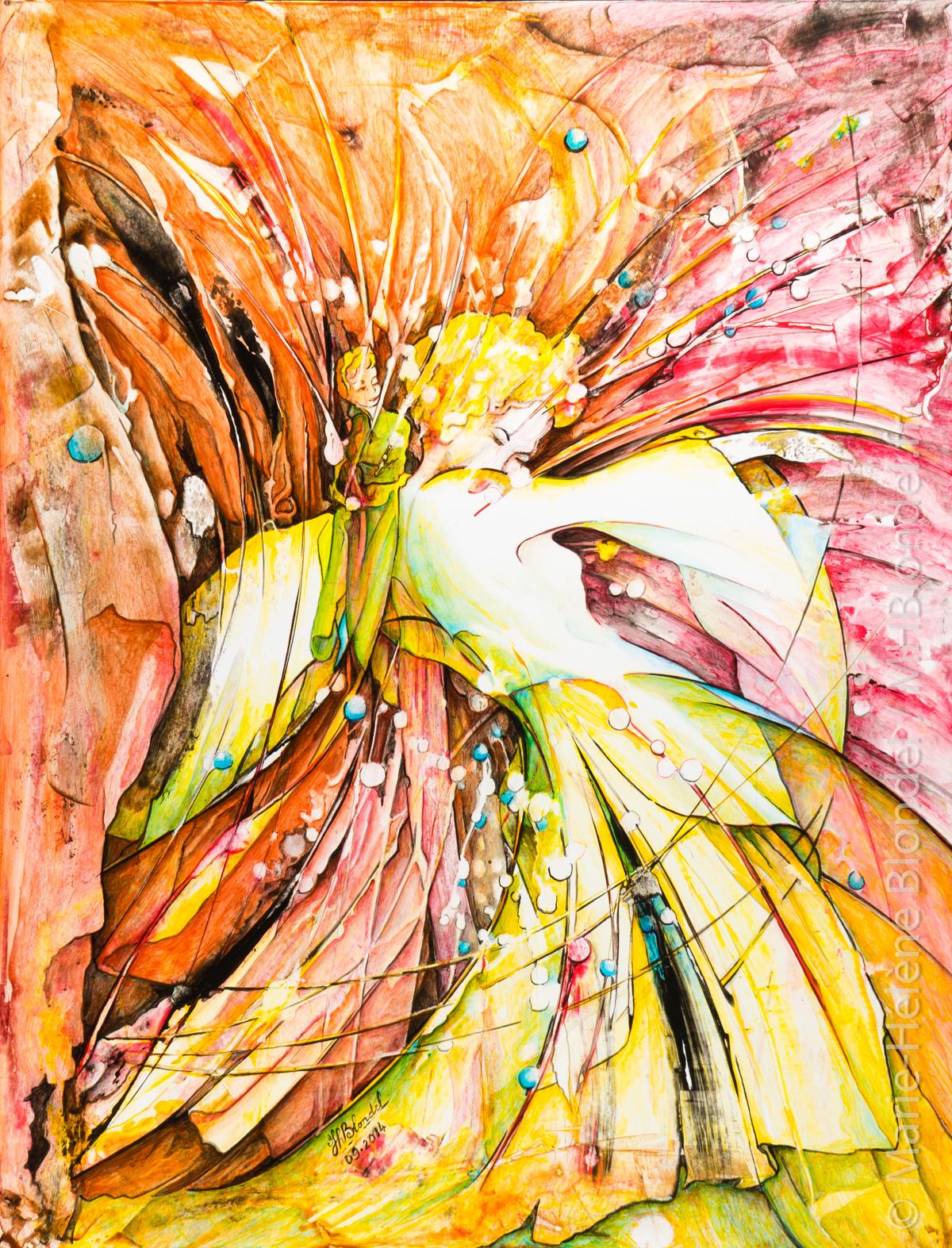 """""""Transparences""""   La petite voix – Acrylique sur carton plume – 65 X 50cm – 400€"""