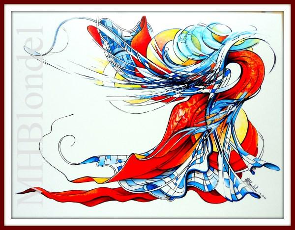 Envolée – Acrylique sur carton plume – 50 X 65 cm – 300€